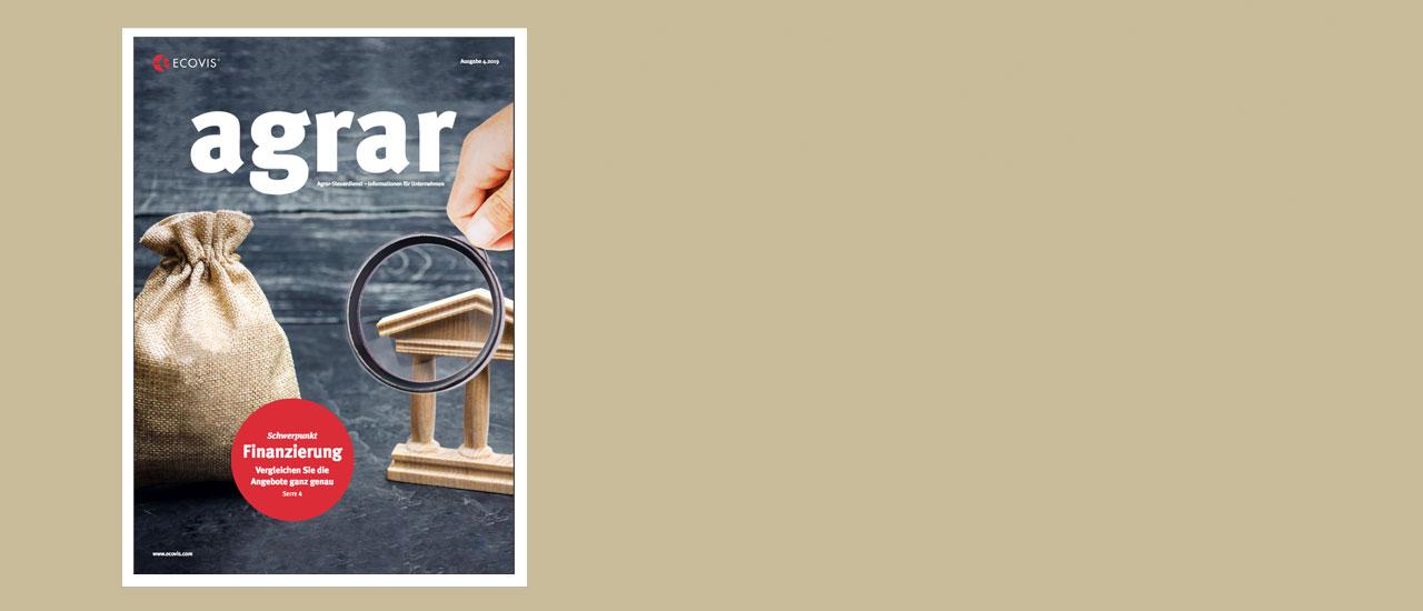 ECOVIS agrar – Ausgabe 4/2019
