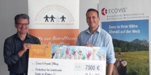 Ecovis & friends spendet 7.500 Euro für den Förderkreis für krebskranke Kinder im Allgäu e.V. - Ecovis & friends Stiftung