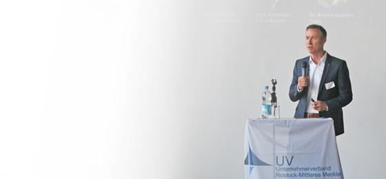 """Ecovis-Berater Matthias Laudahn ist Mitglied des """"Expertenteams Unternehmensnachfolge"""" des Unternehmerverband Rostock-Mittleres Mecklenburg e.V."""