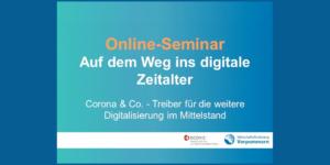 """Online-Seminar """"Auf dem Weg ins digitale Zeitalter"""" - Ecovis Unternehmensberater"""